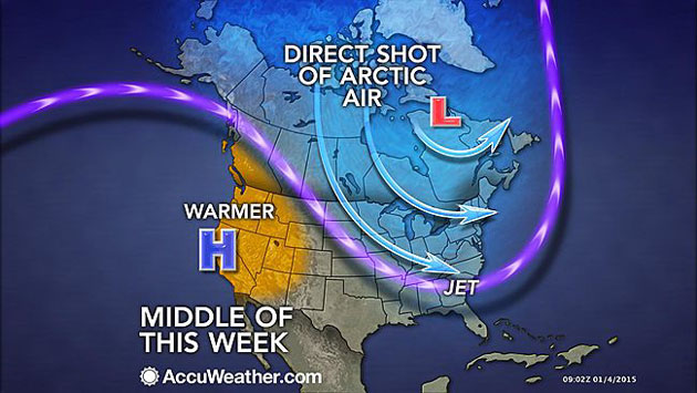 AccuWeather: Brutal Cold to Blast Eastern Half of US, Challenge Records in Midwest