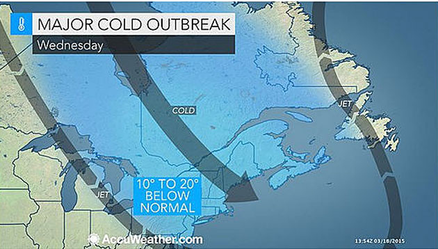 AccuWeather: Upper Midwest, Northeast to Face Major Cold Outbreack; Opportunities for Late-Season Snow