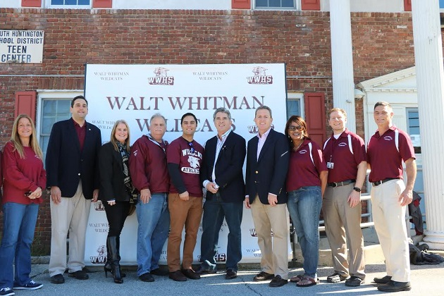 Lupinacci Joins Walt Whitman High School For Homecoming Parade