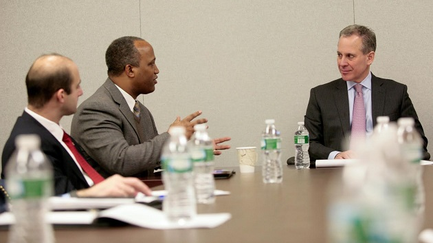Gregory Hosts Schneiderman in Legislative Round Table