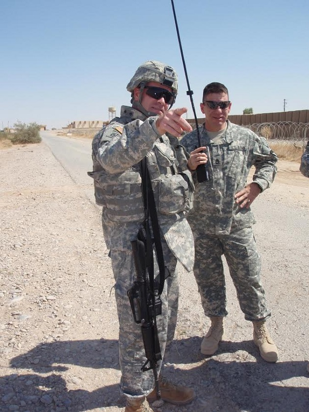 Congressman Gibson in Iraq in 2007 on one of his four deployments to the country. (Credit: submitted)
