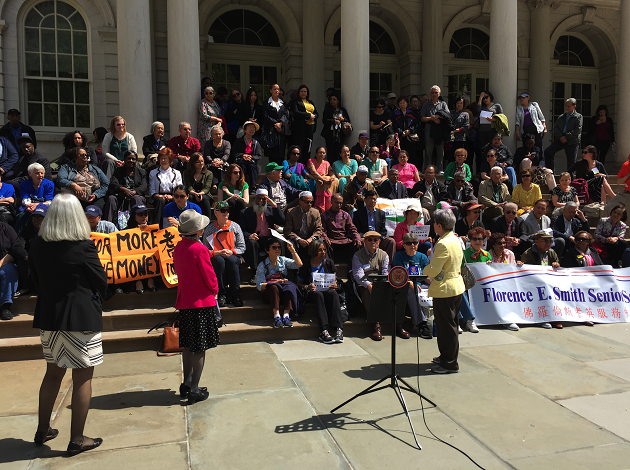 "Seniors Demand ""Fair Share"" of NYC Budget"