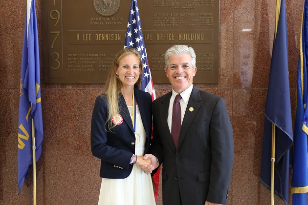 Bellone, Suffolk County Honors Local Olympian Headed to 2016 Summer Olympics