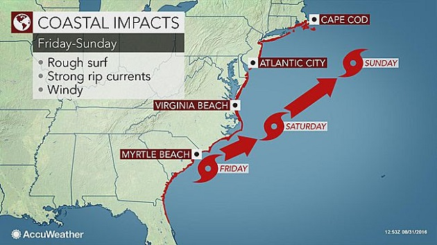 Rough Surf, Rip Currents To Threaten US East Coast Beachgoers Into Labor Day Weekend