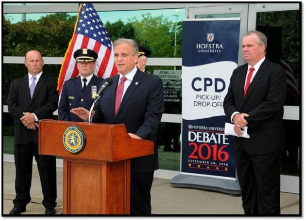Mangano & Krumpter Announce Presidential Debate Security Protocols