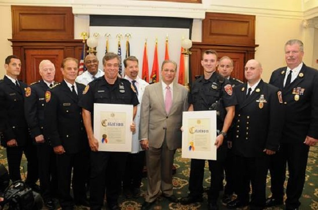 Mangano Commends Off-Duty Police Officers For Saving Five Lives In Freeport House Fire