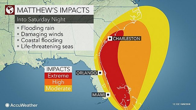 AccuWeather: Hurricane Matthew to Hit Florida, East Coast as a Category 4 Storm Friday Morning