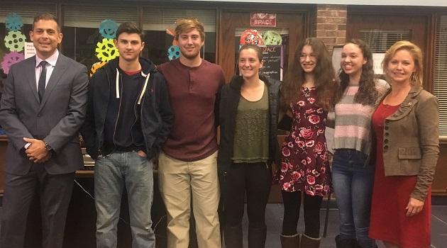 Legislator Anker Honors AP Scholars from Shoreham-Wading River High School