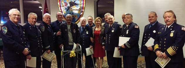 Legislator Anker Recognizes Coram Firefighters for Military Service