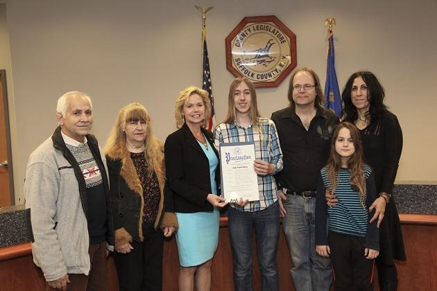 Jade Pinkenburg of Rocky Point Honored by Legislator Anker