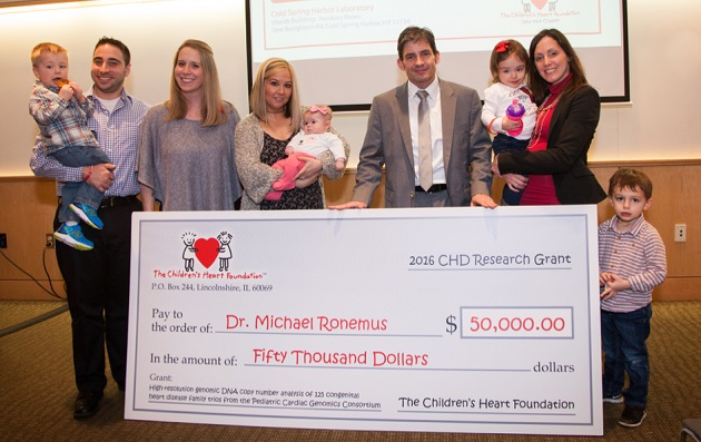 The Children's Heart Foundation Awards $50,000 to CSHL Researcher