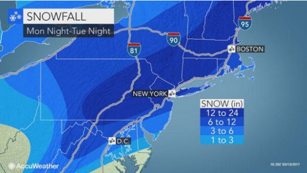 AccuWeather: Nor'easter to Shut Down Travel, Unleash Blizzard Conditions in 7+ States