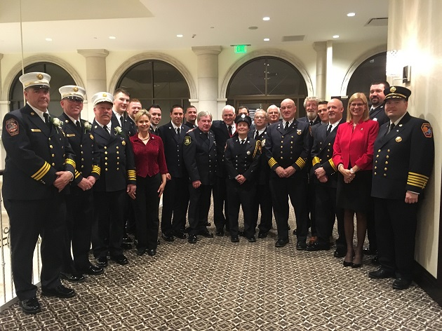 Legislator Anker Honors Miller Place Firefighters