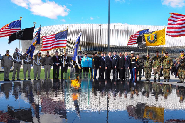 Mangano Dedicates New Veterans Monument With Eternal Flame