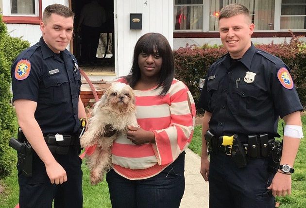 NCPD Responds to Roosevelt Fire and Saves Family Dog before Fire Intensified