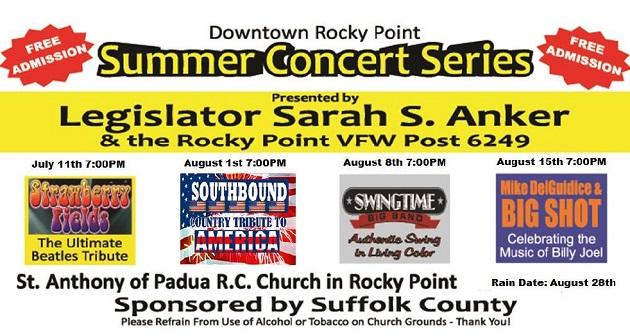 Legislator Anker Announces Downtown Rocky Point Summer Concert Series