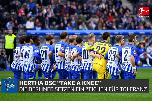 "Kneeling Fiasco Spreads to Germany as Hertha Berlin Soccer Team ""Takes A Knee"" Prior to Game"