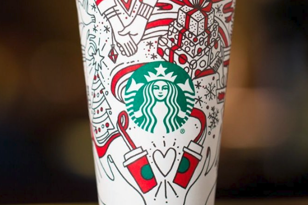 Controversy: Is Starbucks Promoting Gays and Lesbians with New Holiday Cup? Gay Couple Going in for Kiss?