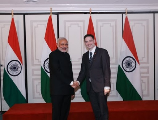 Dilip Chauhan with Prime Minister Modi