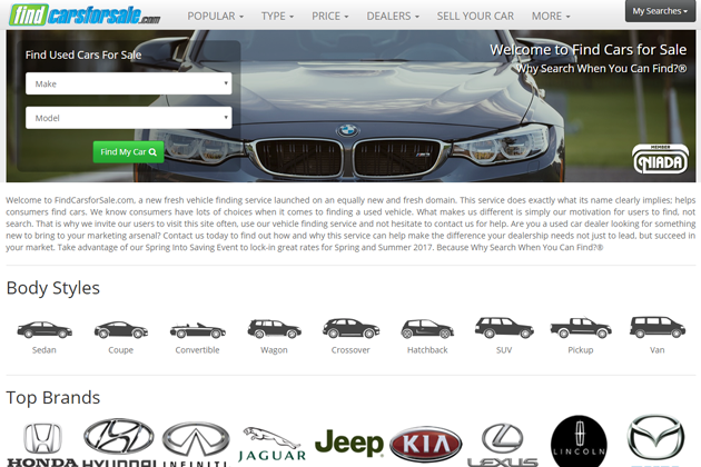 Commack Based Used Cars Lead Company, Cars Digital Inc., Launches National Platform FindCarsforSale.com