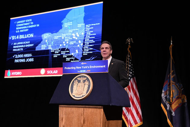 New York Takes Historic Step Toward Renewable Energy Future; Awards Near $1.5 Billion in Contracts