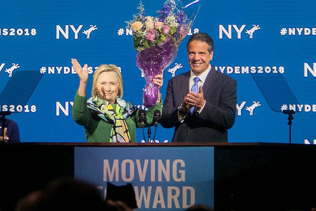 Hillary Clinton Endorses Democratic Governor of New York Andrew Cuomo in Speech at Hofstra University