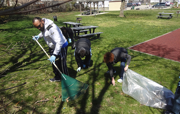 Local Community Pitches in for East Farmingdale's Michel Park Clean-Up Event